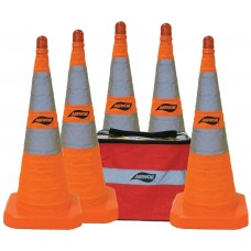 "Aervoe 28"" Safety Cone - Collapsible Kit 5-Pack"