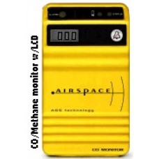 Airspace Carbon Monoxide & Methane Monitor with Snif, LCD Readout, LED & Audible Alarms