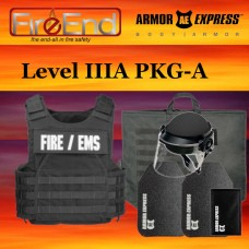 Armor Express Level IIIA and III + SA Package A (carrier, soft armor, rifle plates, trauma pack, first responder bag,  ballistic helmet with face shield)