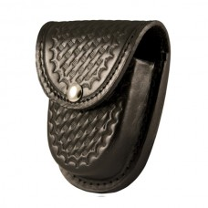 Boston Leather XL Rounded Cuff Case, Slot Back, Basket Weave