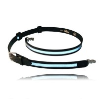 Boston Leather Reflective Radio Strap