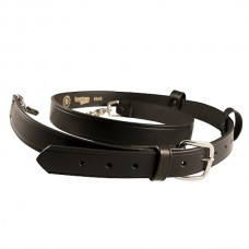 "Boston Leather Radio Strap, 8"" Longer - Black"