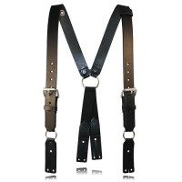 Boston Leather Firefighter's Leather Suspenders