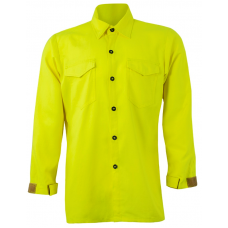 CrewBoss Traditional Brush Shirt — 7.0 oz Tecasafe Hi-Viz