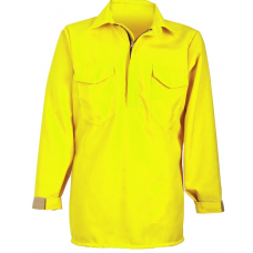 CrewBoss Hickory Brush Shirt — 7.0 oz Tecasafe Hi-Viz
