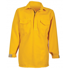 CrewBoss Hickory Brush Shirt — 6.0 oz Nomex Yellow