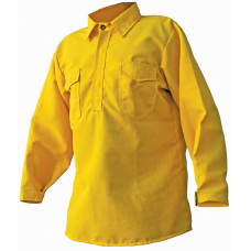 CrewBoss Hickory Brush Shirt — 5.8 oz Tecasafe Yellow