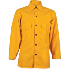 CrewBoss Traditional Brush Shirt — 5.8 oz Tecasafe Plus Yellow