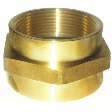 Croker Cast Brass Double Female Hex Adapter