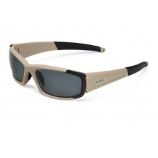 ESS CDI Terrain Tan with Interchangeable Clear and Smoked Gray Lens Sunglasses