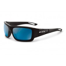 ESS Credence Black Frame Mirrored Blue Lenses Sunglasses