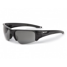 ESS Crowbar Black Frame with Clear and Smoked Gray Lens Sunglasses- Silver Logo