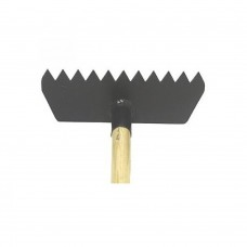 BRF-5 FIRE HOOKS BRUSH RAKE WITH 5' WOOD HANDLE