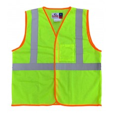 Game Sportswear I-65 The Econo-Safety Mesh Vest Neon Lime