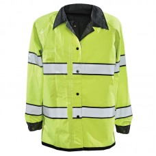 Gerber Pro Dry Reversible Rain Jacket Black/Lime Yellow