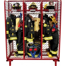 "Red Rack Free Standing Double Sided Gear Storage- 18"" Compartments"