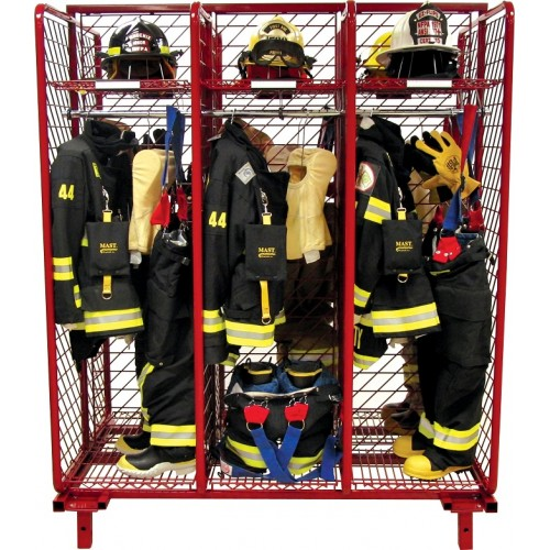 Red Rack Free Standing Double Sided Gear Storage 18