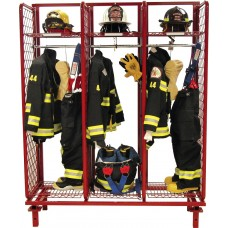 "Red Rack Freestanding Single Sided Gear Storage- 24"" Compartments"