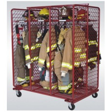 "Mobile Red Rack-Double Sided 24"" Compartments"