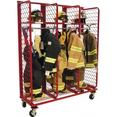 "Mobile Red Rack-Single Sided 24"" Compartments"