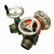"Harrington H220 Two Way Gated Wye ((2-way siamese less clapper (2) 2.5"" NH male gate valve (HHGV) inlets x 5"" Storz lock rigid outlet))"