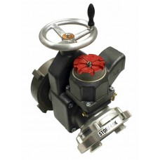 "Harrington H810 25° Elbow 4"" Gate Valves with Field Adjustable Pressure Relief Valve"