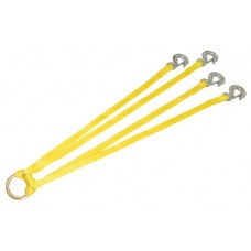 Junkin Nylon  Stretcher Lifting Bridle Sling with Snap Hooks