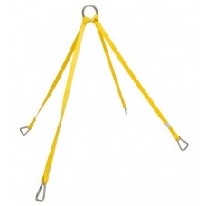 Junkin Nylon Stretcher Lifting Bridle Sling with Carabiners