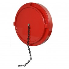 DHC Dry Hydrant Aluminum Cap with Chain- NST (NH) Red