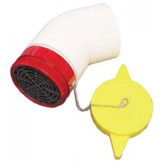 DHMP Male Dry Hydrant Adapter With Polymer Cap and Elbow