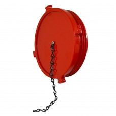 DHP Dry Hydrant Aluminum Plug with chain- Red