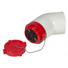 DHM Male Dry Hydrant Adapter With Aluminum Cap and Elbow