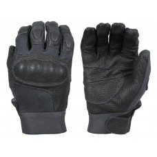 Damascus NITRO™  Kevlar® Tactical Gloves -Digital Leather & Carbon-Tek™ Fiber knuckles- Black