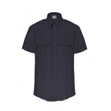 Elbeco Men's Navy TexTrop2 Short Sleeve Shirts with Zipper Front