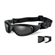 Wiley X SG-1 Goggle Grey/Clear Lens Matte Black Frame