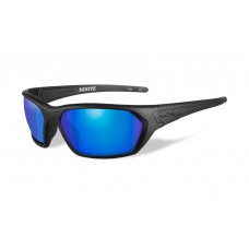 Wiley X Ignite Sunglasses Polarizedl Blue Mirror Lens Matte Black Frame