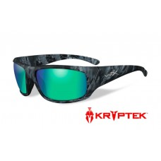 Wiley X Omega Sunglasses Polarized Emerald Green Mirror Lens Kryptek Neptune Frame