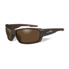 Wiley X Rebel Sunglasses Polarized Bronze Lens Matte Layered Tortoise Frame