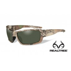 Wiley X Rebel Sunglasses Polarized Green Lens Realtree Xtra Camo Frame