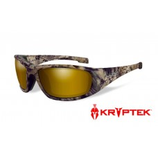 Wiley X Boss Sunglasses Polarized Venice Gold Mirror Kryptek  Lens Highlander Frame