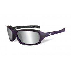 Wiley X Sleek Sunglasses Silver Flash Lens Violet Frame
