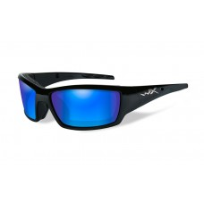 Wiley X Tide  Sunglasses Polarized Blue Mirror Lens Matte Black Frame