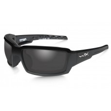Wiley X Titan Sunglasses Polarized Grey Lens Gloss Black Frame