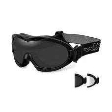 Wiley X Nerve Goggle Grey/Clear Lens Matte Black Frame