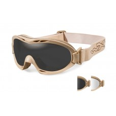 2e4f15db47e0 Wiley X Nerve Goggle Grey/Clear Lens Tan Frame
