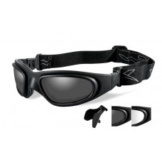 Wiley X SG-1M Goggle Grey/Clear Lens Matte Black Frame- Asian Fit
