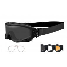 Wiley X Spear Goggle Grey/Clear/Rust Lens Matte Black Frame W/RX Insert
