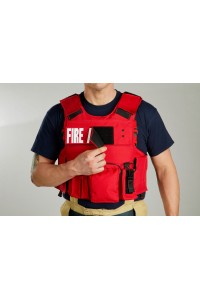LION 3000RH Body Armor  Carrier with Level IIIA Soft Panels and Two Rifle Plates and One Ballistic Helmet