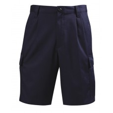 LION Shorts- Pleated Traditional,  100% Cotton- Navy