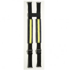 LION EZ H-Back, Quick Adjust, Non-Stretch Suspenders, Black w/ Yellow Trim